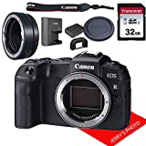 Canon EOS RP Mirrorless Camera Body Only (No Lens) W/Mount Adapter EF-EOS R & 32GB Memory Bundle