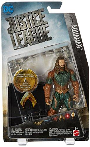 Mattel DC Comics Justice League Aquaman Logo Plates 6 Inch Figura De Acción 6