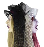 Forum Novelties Two-Faced Zombie Bride Hanging Head, Multicolored