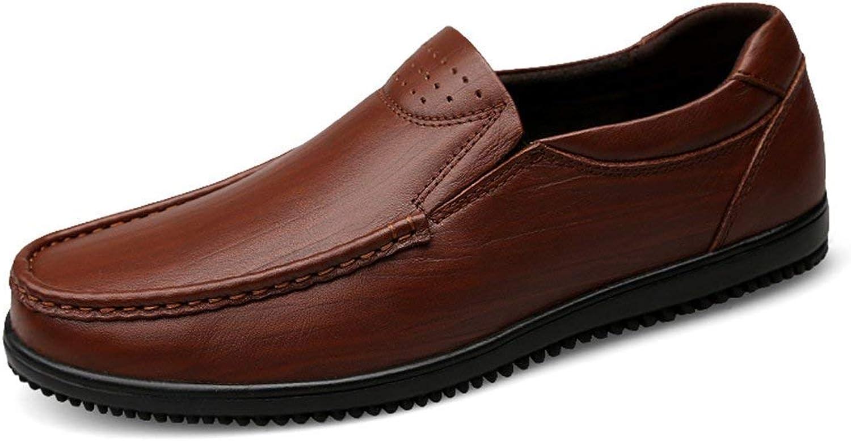 HhGold Jungen Jungen Jungen Männer Atmungsaktive Runde Kappe Synthetic Casual Loafers (Farbe   Braun, Größe   6 UK)  9fed99