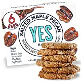 Yes bar – Salted Maple Pecan – (6Count) Plant Based Protein, Decadent Snack bar – Vegan,...