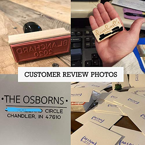 Typii - Custom Return Address Stamp Self Inking or Traditional Rubber Stamp - Name and Address Stamps - Wedding - Business - Personalized Stamp - 3 Lines - 7/8 X 2 3/8 Photo #8