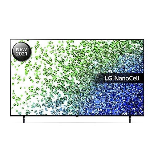 LG 65NANO806PA 65 inch 4K UHD HDR Smart NanoCell TV (2021 Model) with Fast Quad Core Processor 4K, AI Sound, Freeview Play, Prime Video, Netflix, Disney+