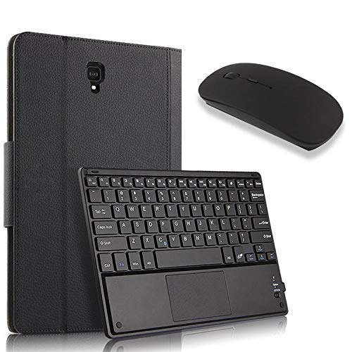drolpt Convenient Wireless Bluetooth Keyboard Case For Samsung Galaxy Tab S4 10.5 T830 T835 Smt830 Smt835 Tablet Protector Cover (Color : Black and Mouse)