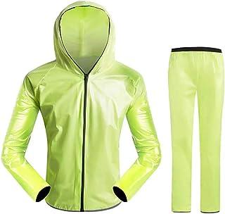 Kenebo Cycling Raincoat Upgraded Waterproof Raincoat Suit Unisex Riding Motorcycle Rainwear Suit