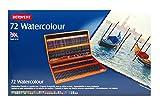 Derwent Watercolour - Lápices acuarelables (72 colores, con estuche de madera),
