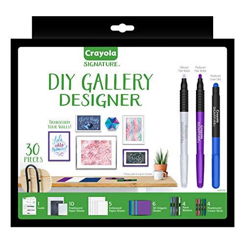 Crayola DIY Gallery Wall Art Set & Origami Kit, Craft Kit, 30+ Pcs, Gifts for Teen Girls & Boys