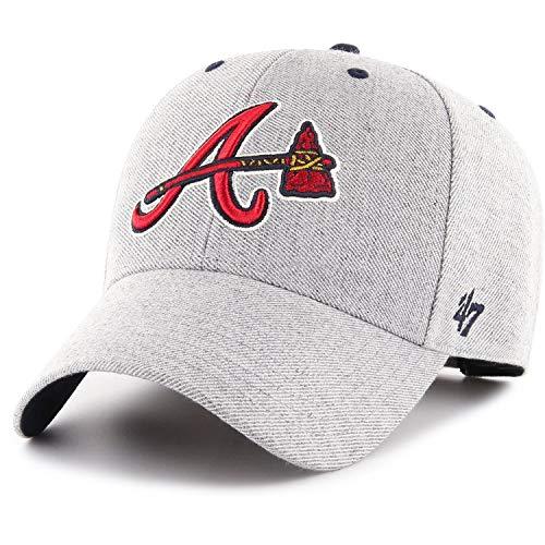 47 Brand Adjustable Cap - Cloud Atlanta Braves grau