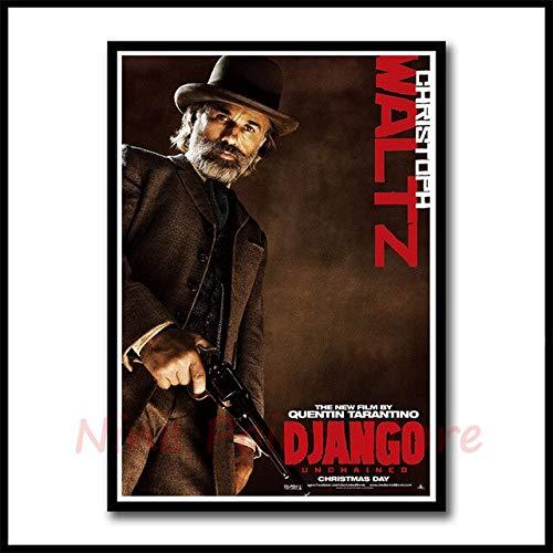 Mengyun Store Rahmenloser Django Unchained Von Quentin Tarantino Poster Bar Cafe Art Rahmenlose Malerei Wandaufkleber Leinwand 50X70Cm Silber