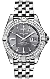 Breitling Galactic 41 Gray Dial Diamond Bezel Men's Watch A49350LA/F549-366A