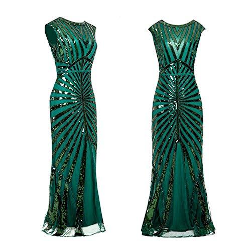 YYH Womens jurk Sling partij Cocktail banket jurk zeemeermin rok M Groen