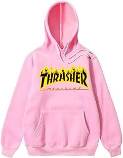 d94e82051 THSM-Frist Thrasher Skate Magazine Fashion Hoodie Mens Sweater Flame  Pullover Sweatshirt