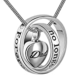 """High Quality Memorial Necklace,White gold plated,Hypoallergenic The pendant length is 30mm(1.18""""), 20"""" Stainless Steel Snake chains included Screw locket urn necklace for ashes,perfume,keepsake for who you cared mostly. Will come with a funnel,spoon ..."""