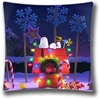 HL HLPPC Christmas Pillow Cover, Christmas The Peanuts Christmas Throw Pillowcase, Customize Your Colors, Christmas Decor 18