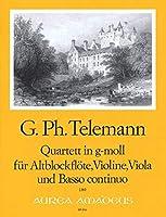 TELEMANN - Cuarteto en Sol menor (TWV:43/g4) (Partitura/Partes)
