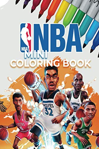 NBA Mini Coloring Book: For kids