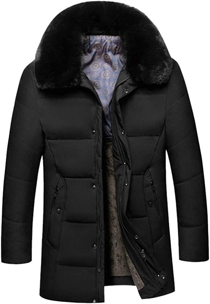 HHei_K Daily Walking Sweatshirts Mid Length Pure Color Thickened Hat Cotton Padded Tops Running Clothing Coat Black