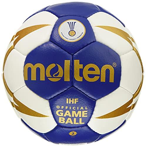 molten Handball, mehrfarbig (Blau/Weiß/Gold), 3, H3X5001-BW-HBL