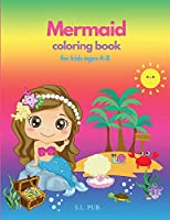 Mermaid coloring book for kids ages 4-8: Amazing Gift 50 Single-sided coloring pages for kids Unique mermaid designs Stress-relief coloring book