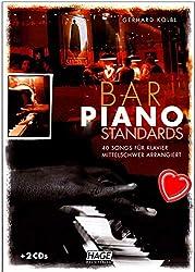 Bar Piano normes-40Chansons Pour Piano-Note livre de Gerhard kölbl-avec 2CD et coloré Cœur Note klamme