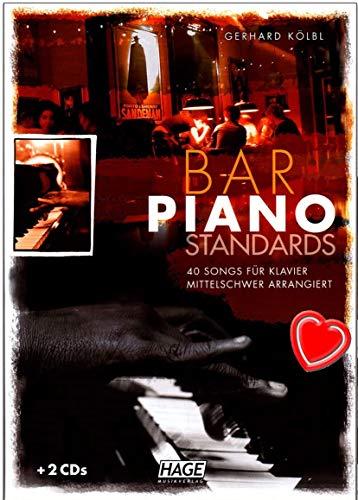 Bar Piano normes–40Chansons Pour Piano–Note livre de Gerhard kölbl–avec 2CD et coloré Cœur Note klamme