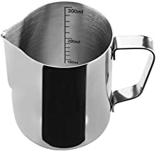 Stainless Steel Milk Frothing Pitcher Measurements on Both Sides Inside Plus eBook & Microfiber Cloth Perfect for Espresso Machines Milk Frothers Latte Art