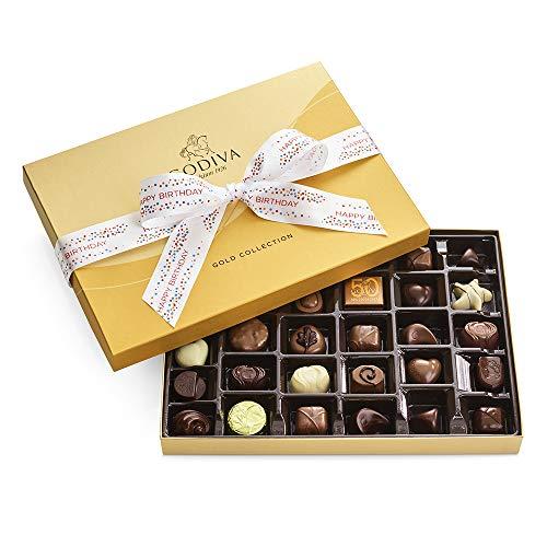 Godiva Chocolatier Assorted Chocolate Truffles Gold Gift Box, Happy Birthday Ribbon, 36 pc.