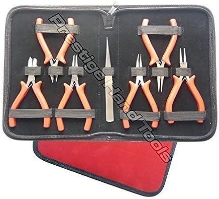 mit Kettenzange Vektenxi 3-teiliges Mini-Schmuck-Zangen-Set in Premium-Qualit/ät zuf/ällige Farbe Diagonalschneider und Rundzange