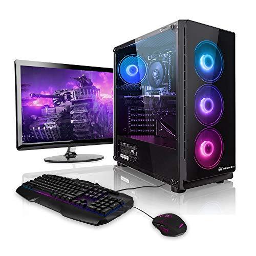 """Megaport Super Méga Pack Raystorm - Unité Centrale PC Gamer Complet Intel Core i7-10700F • Ecran LED 24"""" • Clavier et Souris Gamer • GeForce GTX1660 6Go • 480Go SSD • 16Go • Windows 10 • WiFi"""
