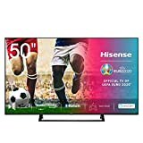 Hisense 50AE7200F 126 cm (50 Zoll) Fernseher (4K Ultra HD, HDR, Triple Tuner DVB-C/S/S2/T/T2, Smart-TV, Mittelstandfuß, Frameless, Bluetooth, Alexa)
