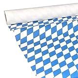 JUNOPAX 38315214 Papiertischdecke 50m x 1,00m Bayrische Raute blau weiß Bavaria Oktoberfest nass- und wischfest