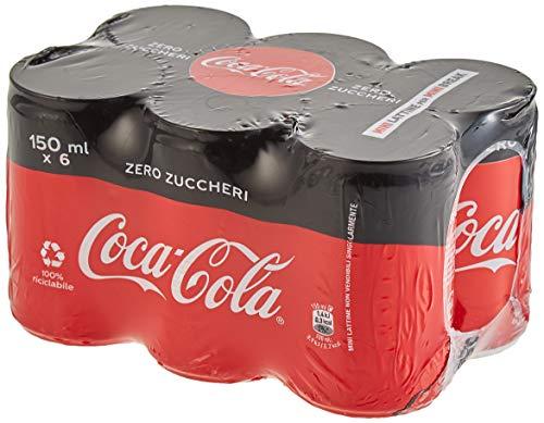 COCA-COLA ZERO 150 ml - 6 Mini lattine