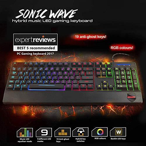 Sumvision Nemesis Gaming Series Sonic Wave Hybrid Music LED Keyboard