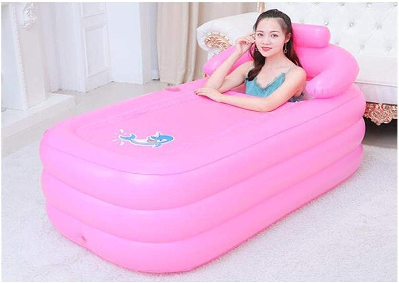 QQB & Erwachsene Faltbare aufblasbare Badewanne tragbare Bad Barrel verdicken Badewanne Kunststoff Badewanne Kinderbadewanne Schwimmbad mit Fupumpe (Farbe   B)