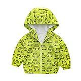 Dasongff Kinder Cartoon Jacken Windjacke Übergangsjack Kinderbekleidung Niedliches mit Kapuzen 0-6 Jahre Alt