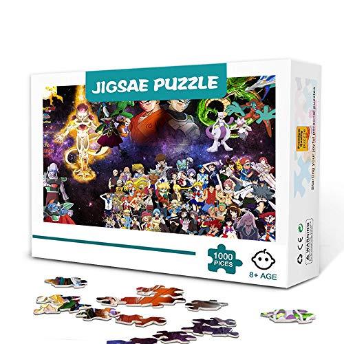 zhangkk Rompecabezas para Adultos 1000 Piezas Dragon Ball Anime Puzzle 1000 Piezas Juegos de Rompecabezas para niños Juegos educativos Entretenimiento Regalo. Los 75x50cm