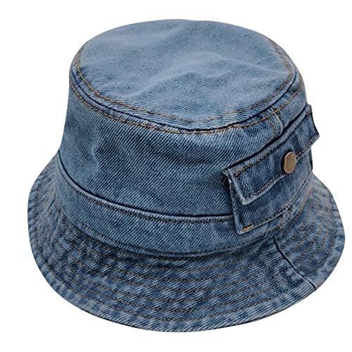2 / 3Y Bébé Chapeau Fille Garçon Mode D'été Denim Protection Crème Solaire Cap Chapeau Solide Chapeaux de Pêcheur, A