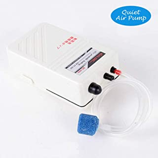 fulhengy Portable Aquarium Air Pump Battery Operated, Backup Fish Tank Air Bubbler, Power Outage Aerator Emergency Oxygen Diffuser, Keeps Fish Safe