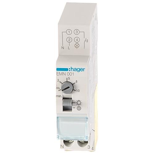 Hager EMN001 - EMN001 - Minutero de escalera 16A, 230V: Amazon.es ...