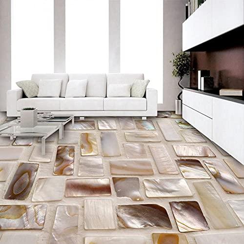 Papel tapiz fotográfico personalizado Azulejos 3D Piso de mosaico Arte Mural PVC Impermeable Autoadhesivo Baño Restaurante Cocina Etiqueta de piso 3D-200X140cm