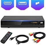 DVD Player for TV, DVD CD Player with HD 1080p Upscaling, HDMI & AV Output (HDMI & AV Cable Included), All-Region Free,...