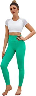 E-lip Yoga Pants Capri Workout Leggings for Women, Non See-Through High Waist Tummy Control Yoga Legggings