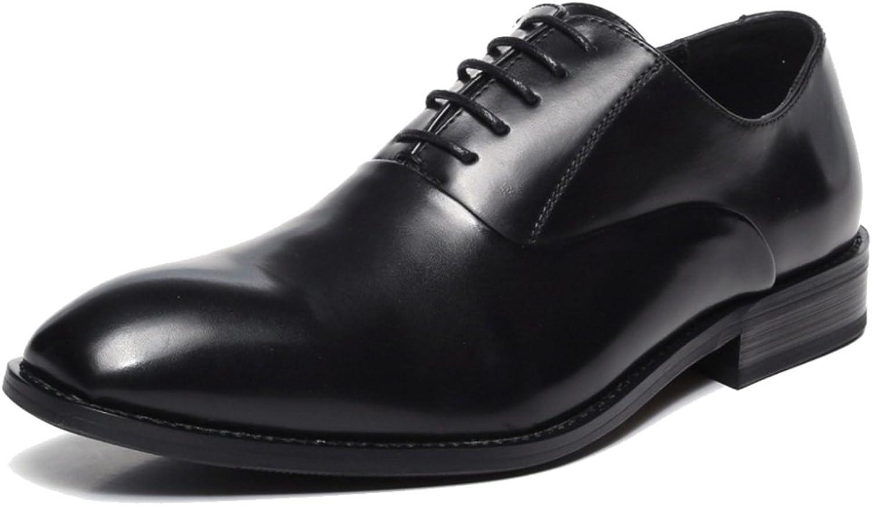 Gent Herren Leder Schnürschuh Oxford Schuhe Plain Toe Business Formale Schuhe Für Die Arbeit Hochzeit Derbys Schuhe