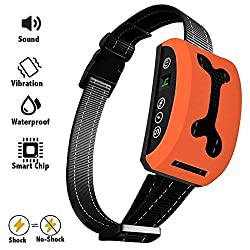 ELenest No Bark Collar With 2019 Upgrade Chip