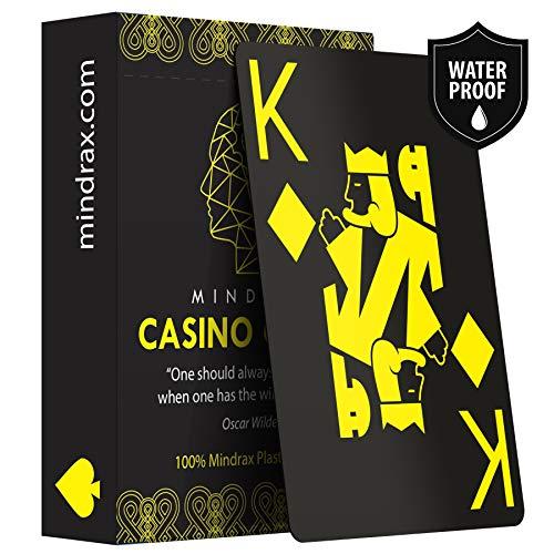 Mindrax ® Spielkarten | Wasserfeste Plastik Karten | Profi Poker Texas-Holdem Skat | Geschenk Mitbringsel für Gastgeber