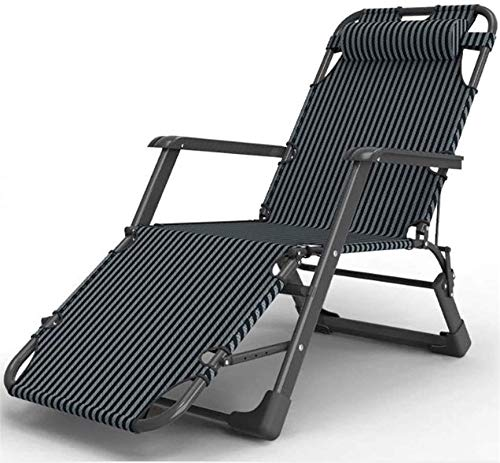 DFANCE Leichte Sun Lounger Klappbare Gartenstühle Klappbare Liegestühle, Outdoor Garten Patio Stuhl Rest Sun Lounger Bett Büro Lazy Back Stuhl für Reisen Urlaub Indoor Outdoor Klappbar