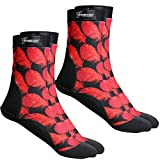 Seavenger SeaSnugs Beach Socks   Sand Skins for Outdoor Volleyball and Soccer   Kids, Mens, Womens (Red Feather/Small / 2 Pairs)