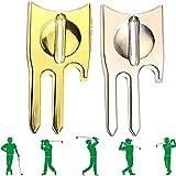 AHURGND 2pcs 6-en-1 Herramienta de divot, herramienta de divot de golf, abridores de hombros, la herramienta Divot de golf 6 en 1, herramienta de reparación de divot de golf un accesorio de golf único