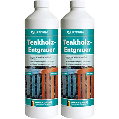 HOTREGA 2 x Teakholz-Entgrauer 1000ml Flasche