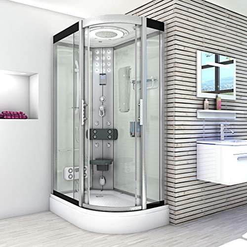 AcquaVapore DTP8060-7000R Dusche Duschtempel Komplett Duschkabine 80×120 - 2